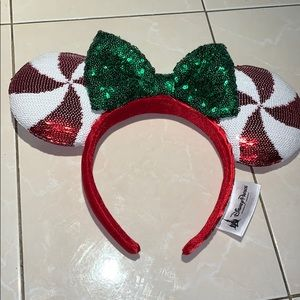 Minnie Mouse Peppermint Ear Headband